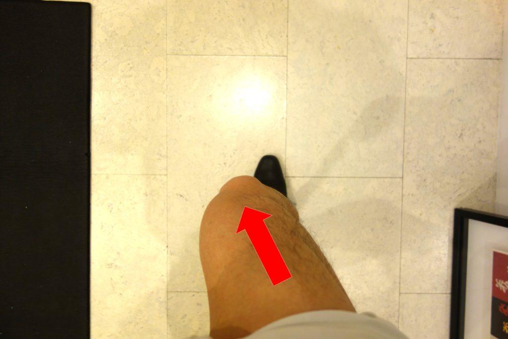 膝が内側に入る歩き方