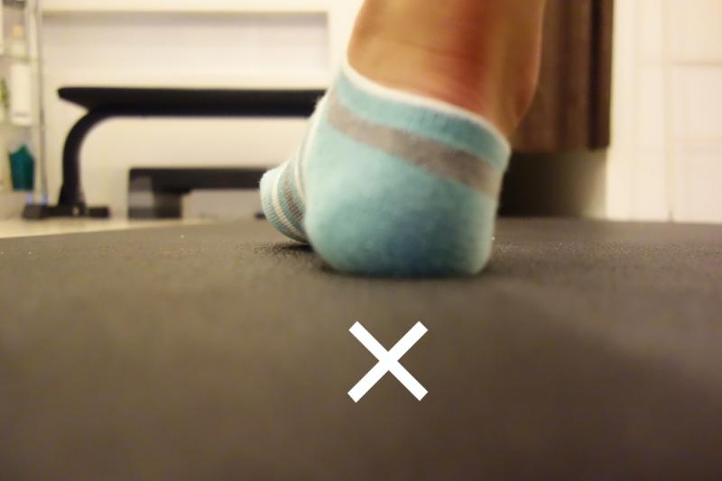 足の外側に体重が乗る