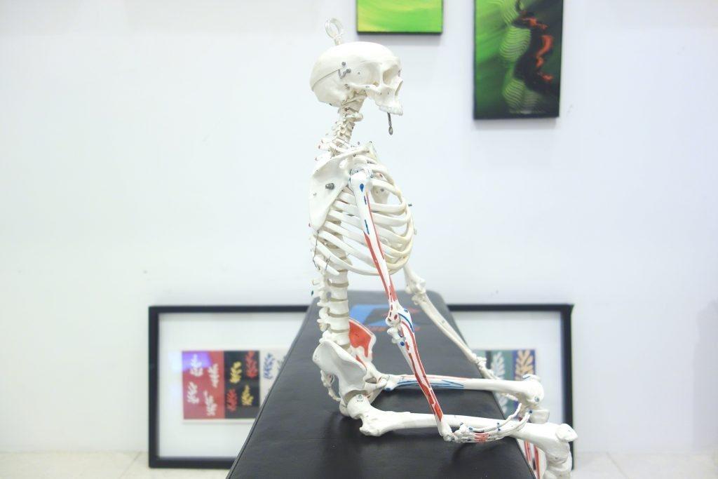 骨で座っている状態